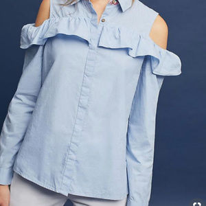 Anthropologie Open shoulder Button Down  Shirt